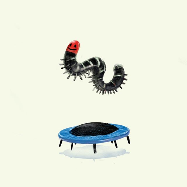 #illustration #art #draw #drawing #paint⠀⠀⠀⠀⠀⠀⠀⠀⠀ #silly #trampoline