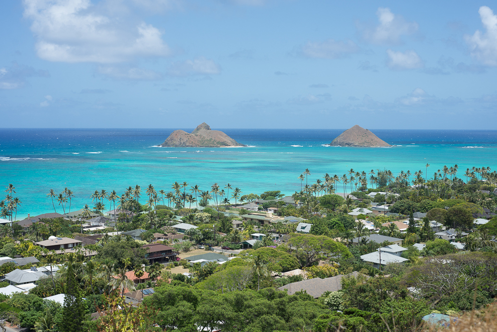 View from the Pillbox hike overlooking Lanikai Beach on the east side. No filter needed!