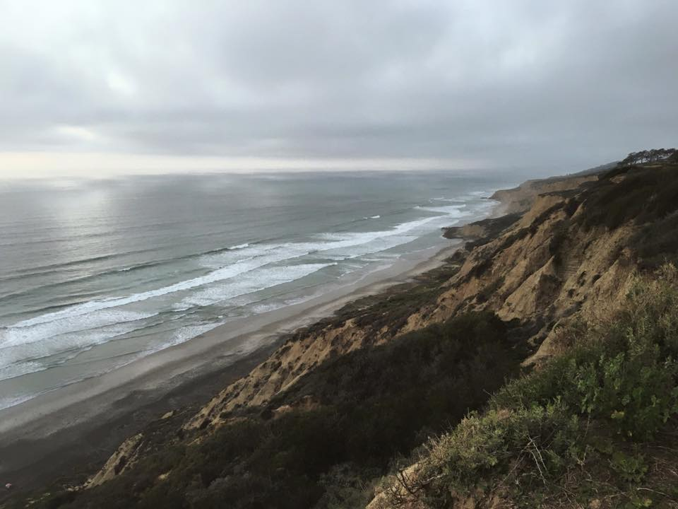 Even the air is different. [Location: Torrey Pines, La Jolla]