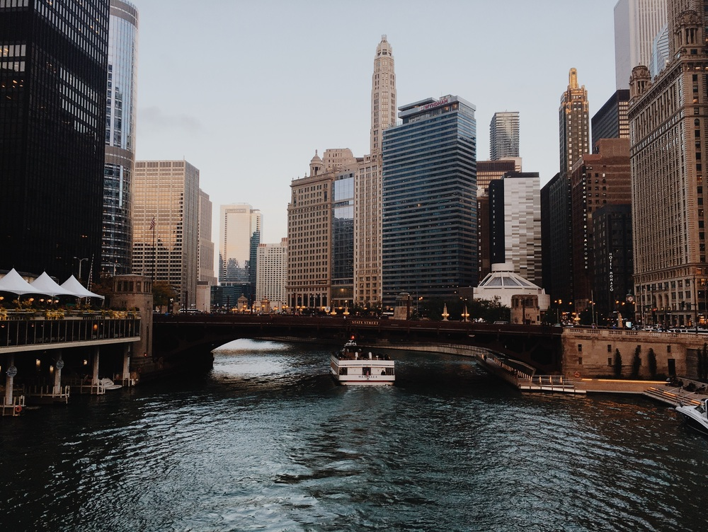 The views of the Chicago River never cease to grow old.