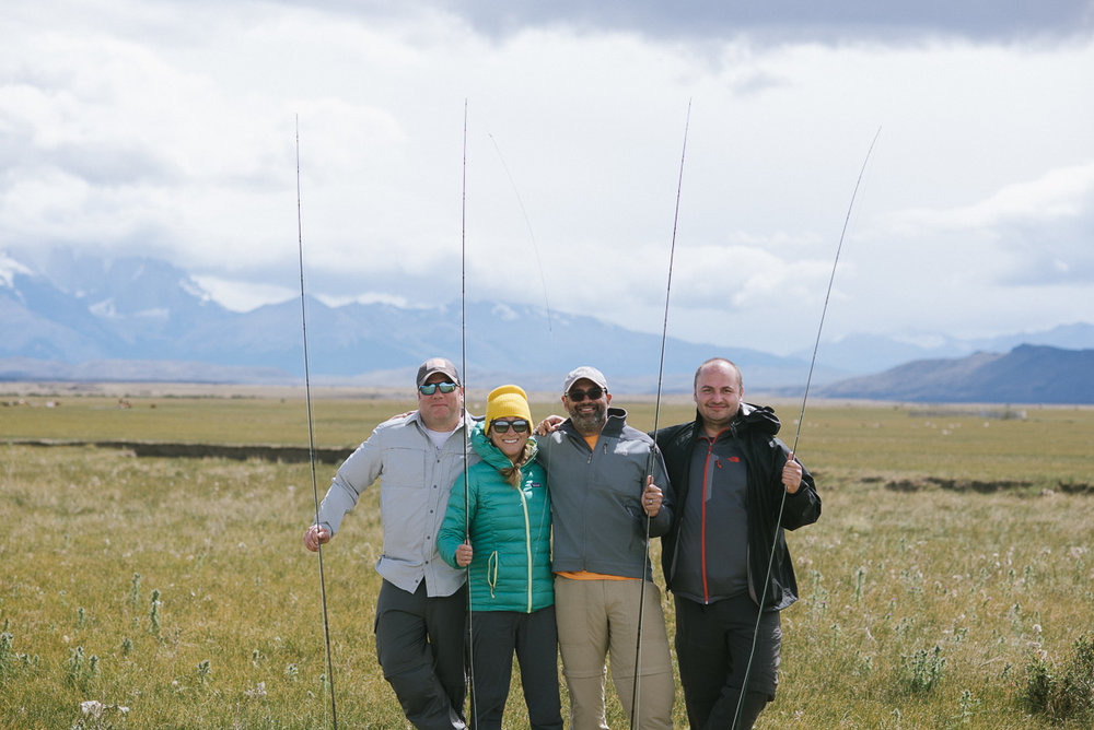 Thanks to Ben Vial, our awesome guide from Patagonia Line, for snapping this group photo.