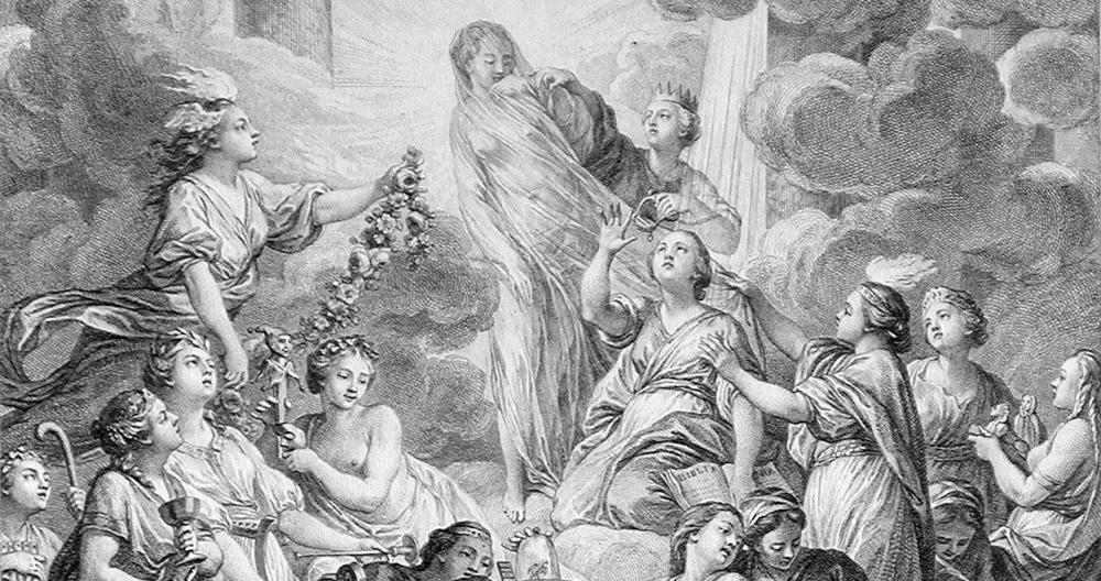 Detail from the frontispiece of the Encyclopédie (1772) by Cochin