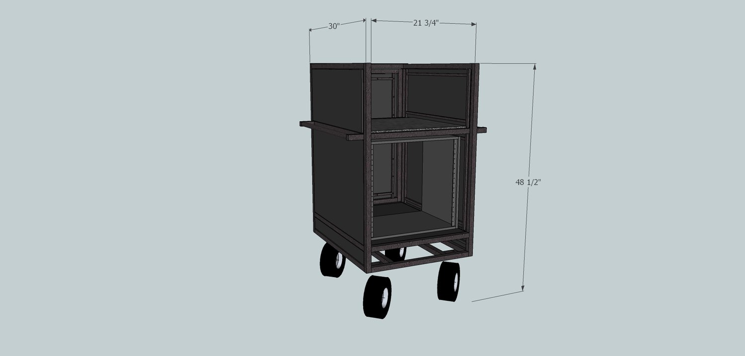The MC-10 Single Mixer Cart — Pageantry Innovations
