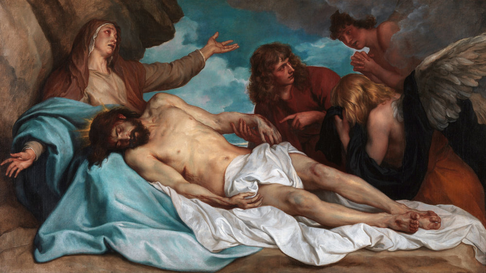 Lamentation Over the Dead Christ by Anthony van Dyck c. 1635.  https://commons.wikimedia.org/wiki/File:Anthony_van_Dyck_-_Bewening_van_Christus2.JPG#/media/File:Anthony_van_Dyck_-_Bewening_van_Christus2.JPG
