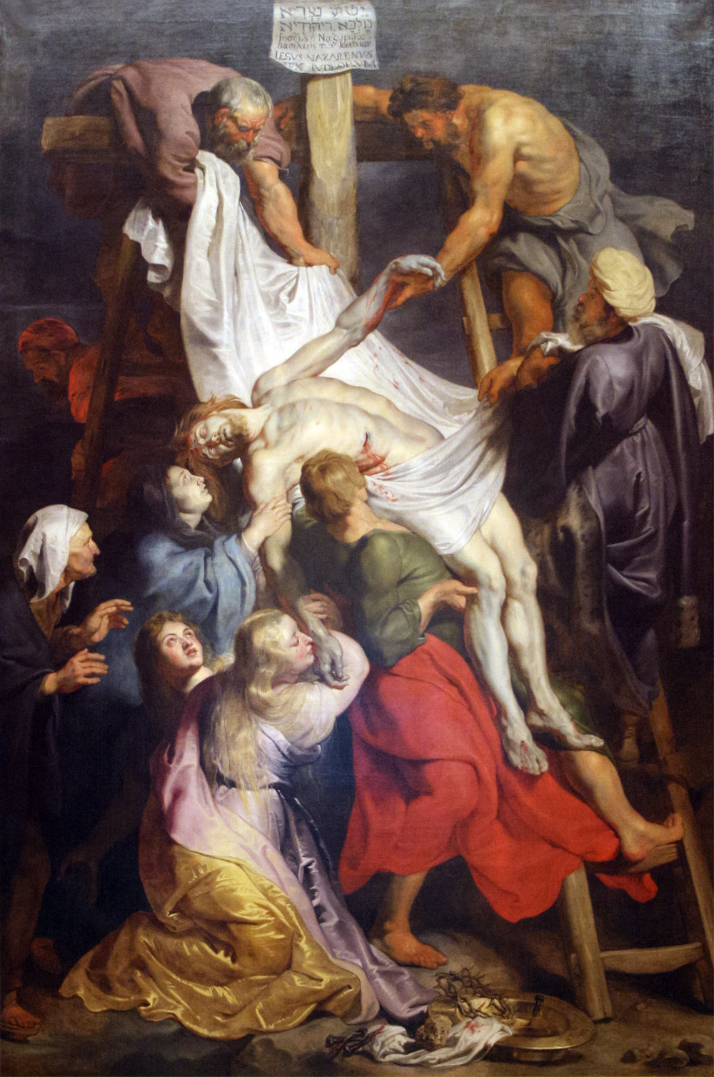 Descent from the Cross,by Peter Paul Rubens, 1617.  Public Domain, https://commons.wikimedia.org/w/index.php?curid=1878967