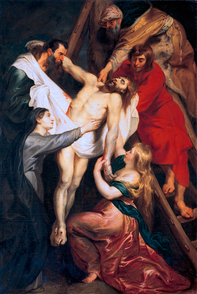 Descent from the Cross, By Peter Paul Rubens 1618.  http://www.codart.nl/exhibitions/details/412/, Public Domain, https://commons.wikimedia.org/w/index.php?curid=11233915