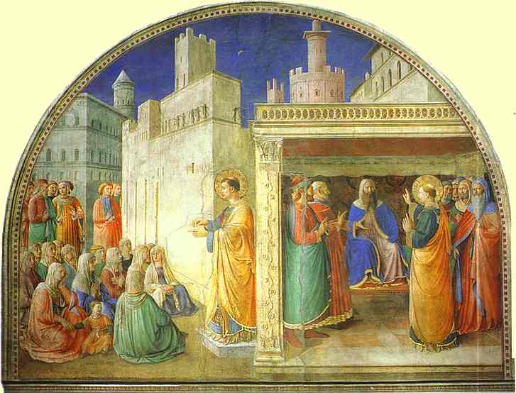 The Selection of Seven Men of Honest Report by Fra Angelico (1400-1455 A.D.).