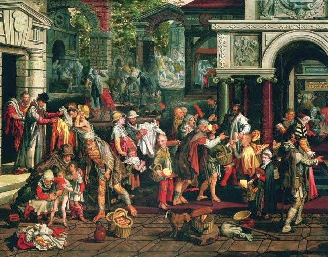 Deeds of Christian Charity by Pieter Aertsen, 1575. Public Domain.