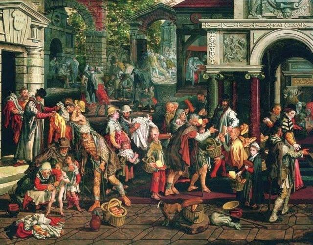 Deeds of Christian Charity by Pieter Aertsen, 1575. Public Domain.