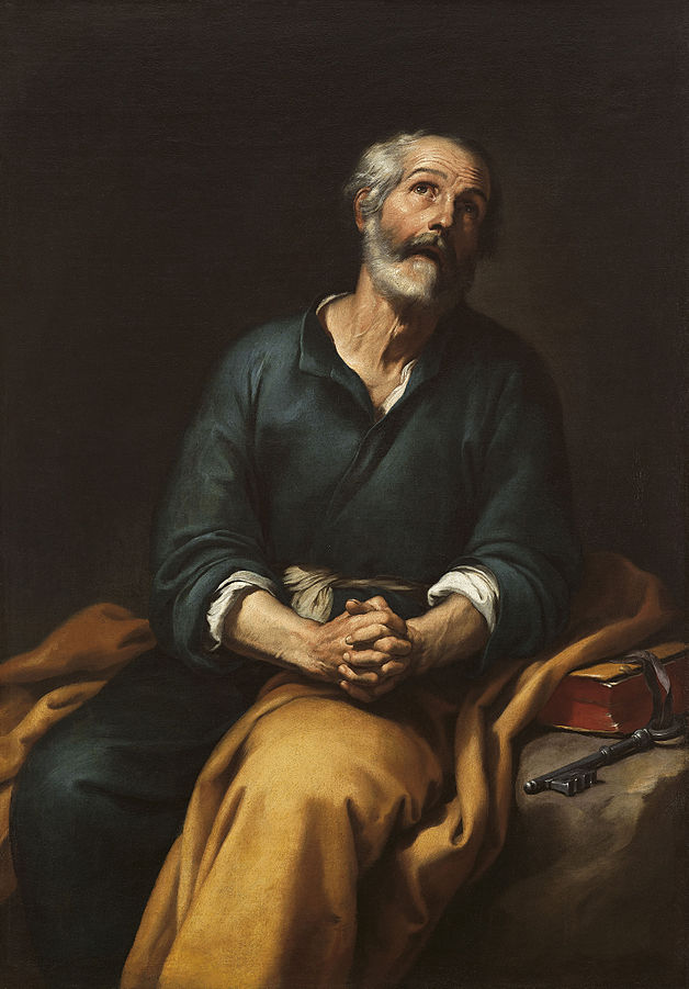 Saint Peter in Tears By Bartolomé Esteban Murillo, Public Domain, c. 1650-1655. https://commons.wikimedia.org/w/index.php?curid=20596863