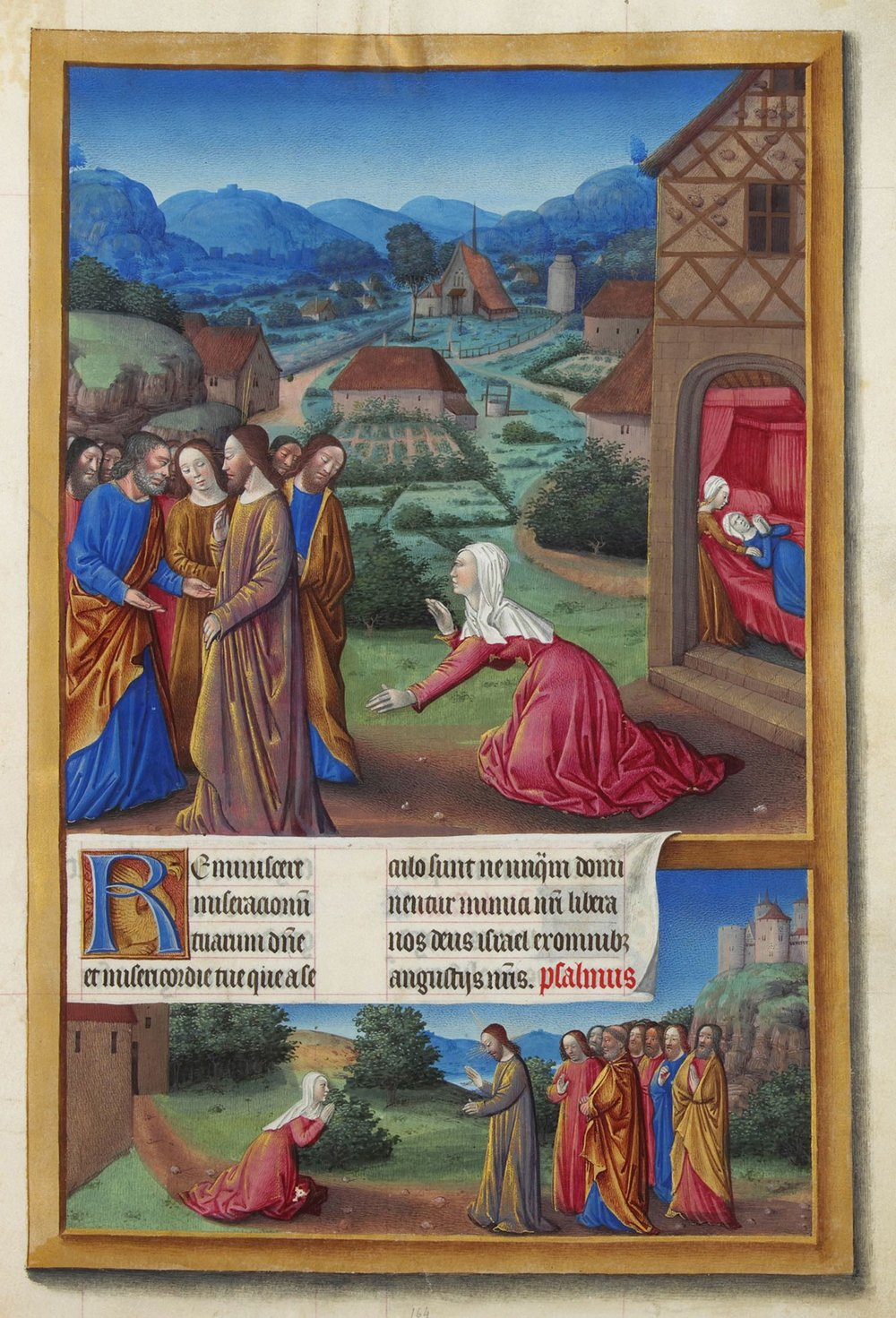 The Canaanite Woman , Les Très Riches Heures du duc de Berry, 16th century. Public Domain.