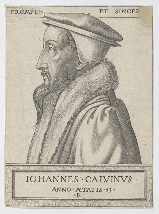 An engraving of John Calvin, age 53 By René Boyvin (1525-1598) [public domain], via Wikimedia Commons.  John Calvin is considered one of the fathers of the Reformed Church and TULIP is based on his teachings.