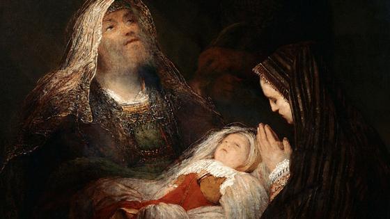 Simeon's Song of Praise .Aert de Gelder [Public domain], via Wikimedia Commons