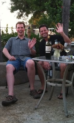 Steve Lodge and his pal Jordan Brandman.