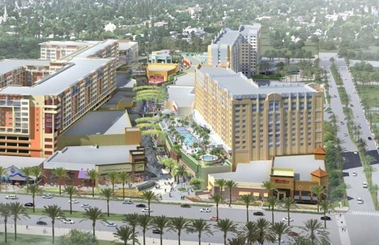 Artist rendering of GardenWalk Hotel project.