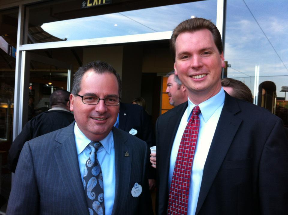 Disney President George Kalogridis and Jordan Brandman.