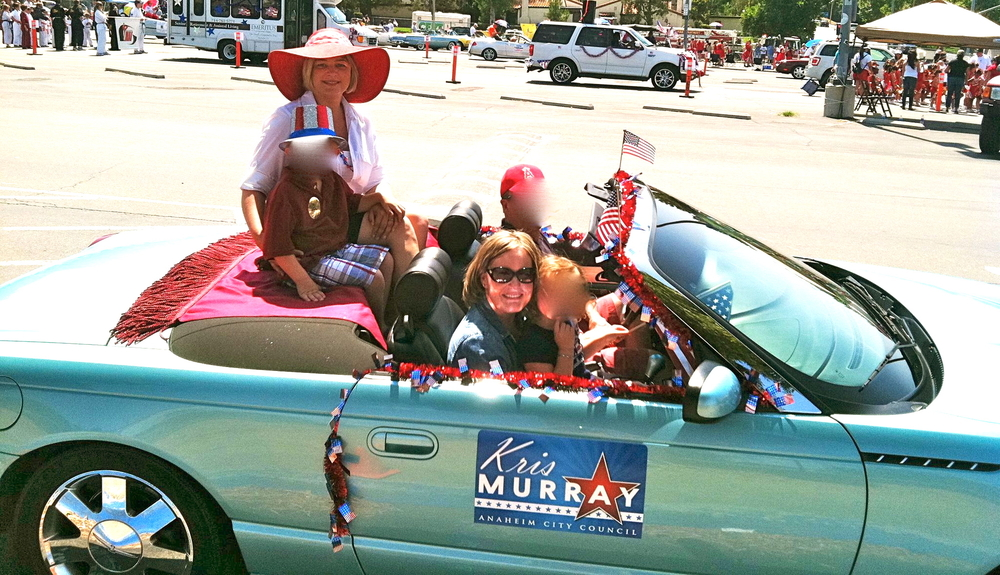 Kris Murray riding along with Disney lobbyist Carrie Nocella.
