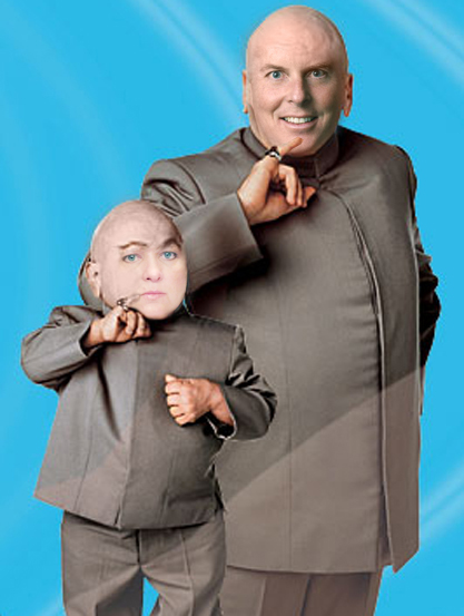 Dr. Evil aka Curt Pringle and Mini-Me Kris Murray