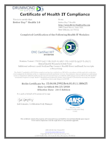 BDH 1.0 ONC Compliance Certificate.png