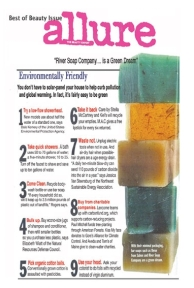 River Soap as seen in Allure Magazine......