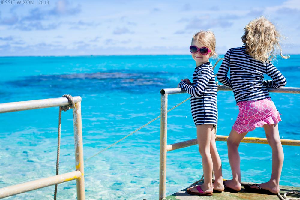 Girls on the lagoon cruise