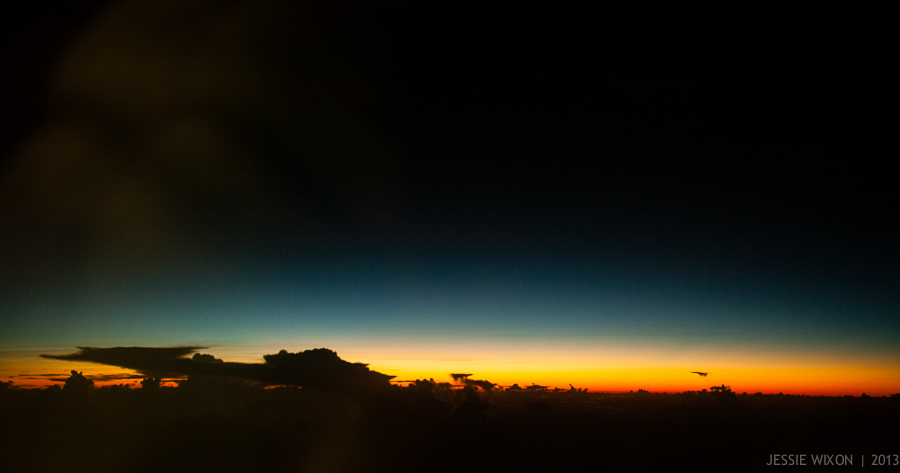 84/365 Sunrise in the South Pacific from the plane