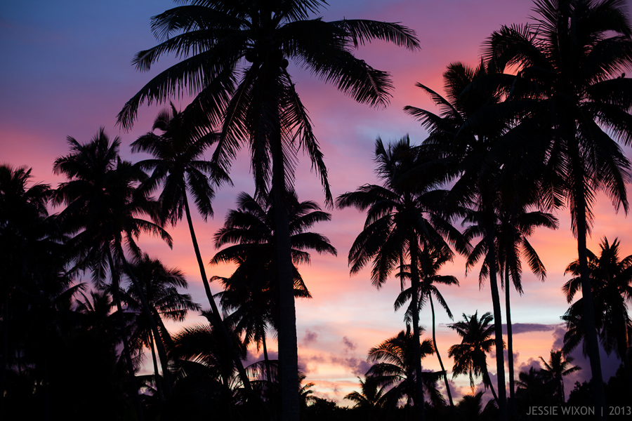88/365  True life colors of sunrise in Aitutaki, Cook Islands