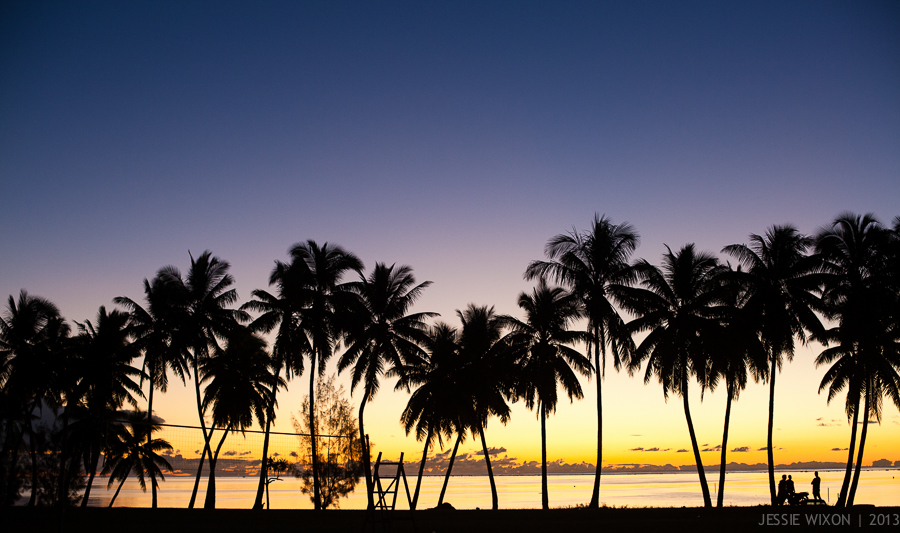 Sunset on Aitutaki, Cook Islands