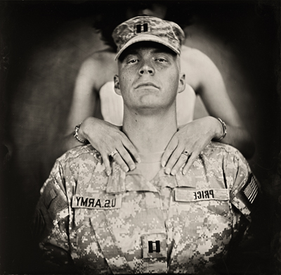 CPT Aaron Price With His Wife