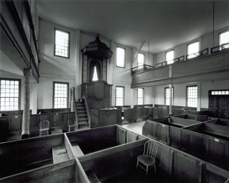 Interior, Sandown Meeting House