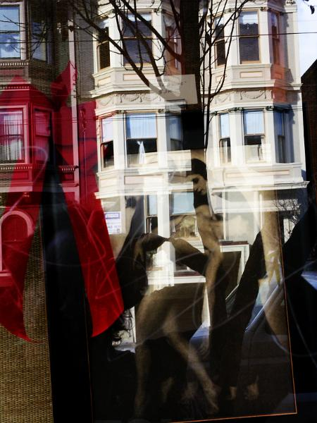 window reflection, san francisco, ca.