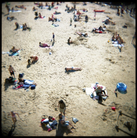 summer 2007, tenby beach, wales
