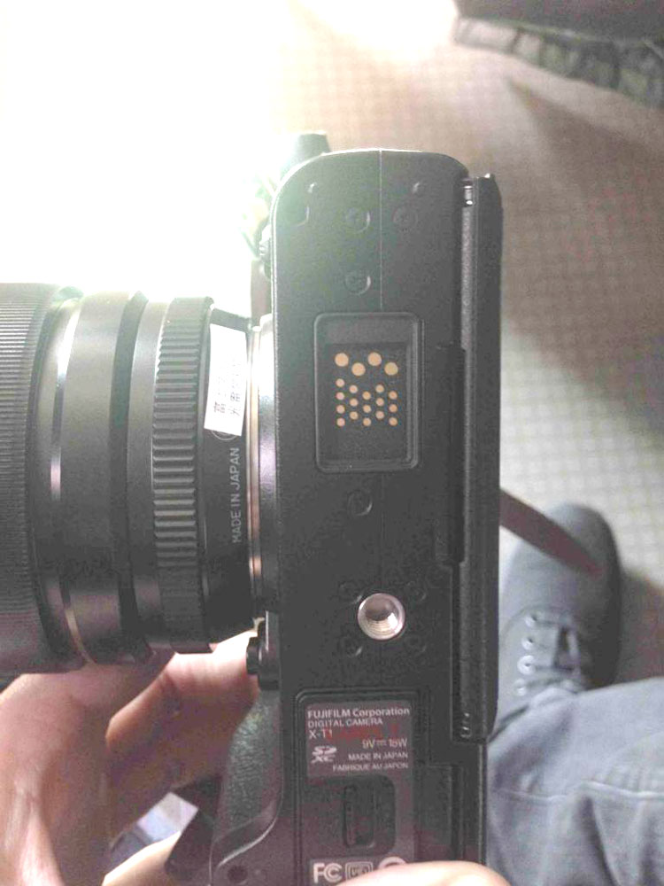 Fujifilm X-T1 baseplate