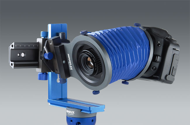 The Novoflex BALPRO T/S attached to a Canon camera. (Image courtesy of Novoflex)