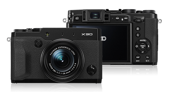 Fujifilm's sleek new X30 small-format super-zoom fixed-lens camera