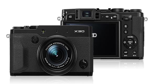 Fujifilm's sleek new X30 small-format super-zoom fixed-lens camera