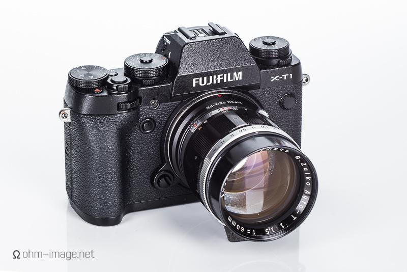 Fujifilm X-T1 and Olympus 60/1,5 Pen F lens