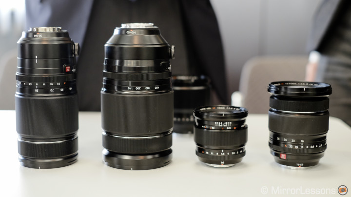 Fujifilm's growing lenses (image from Mirror Lessons)