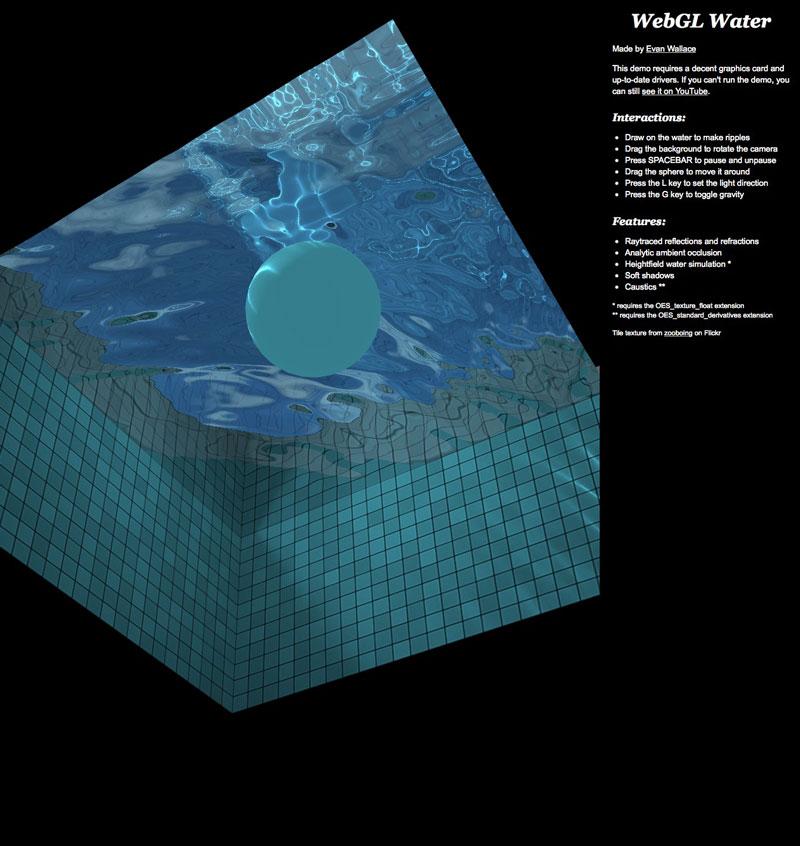 WebGL Water — ohm image