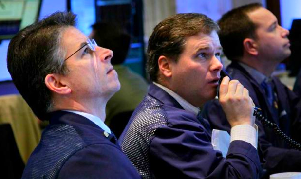 Wall Street traders waiting for the bell to sound