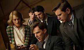 Benedict Cumberbatch (center) as Alan Turing in  The Imitation Game