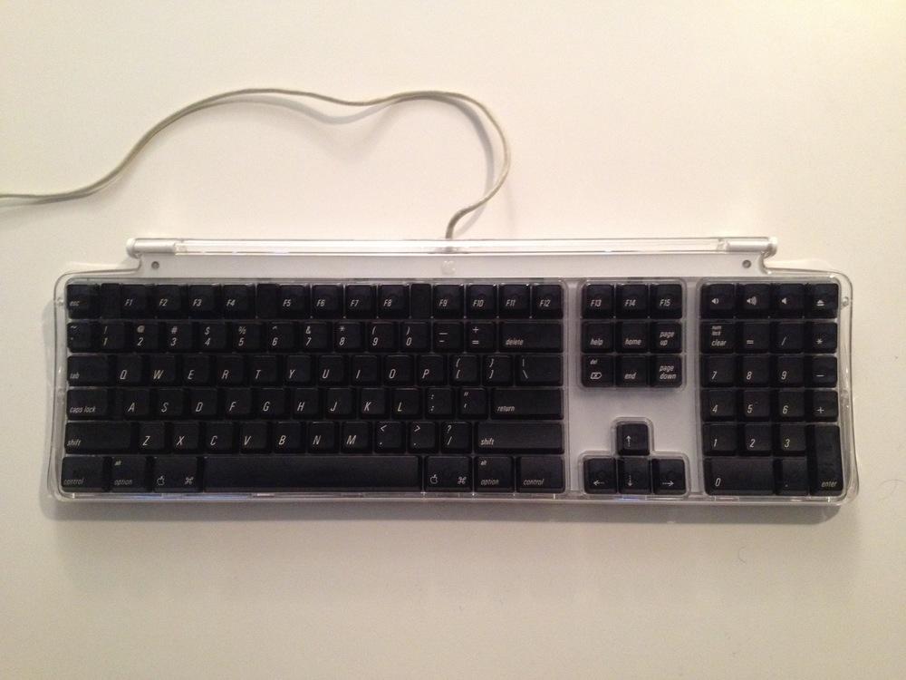 The Apple Black Pro Keyboard