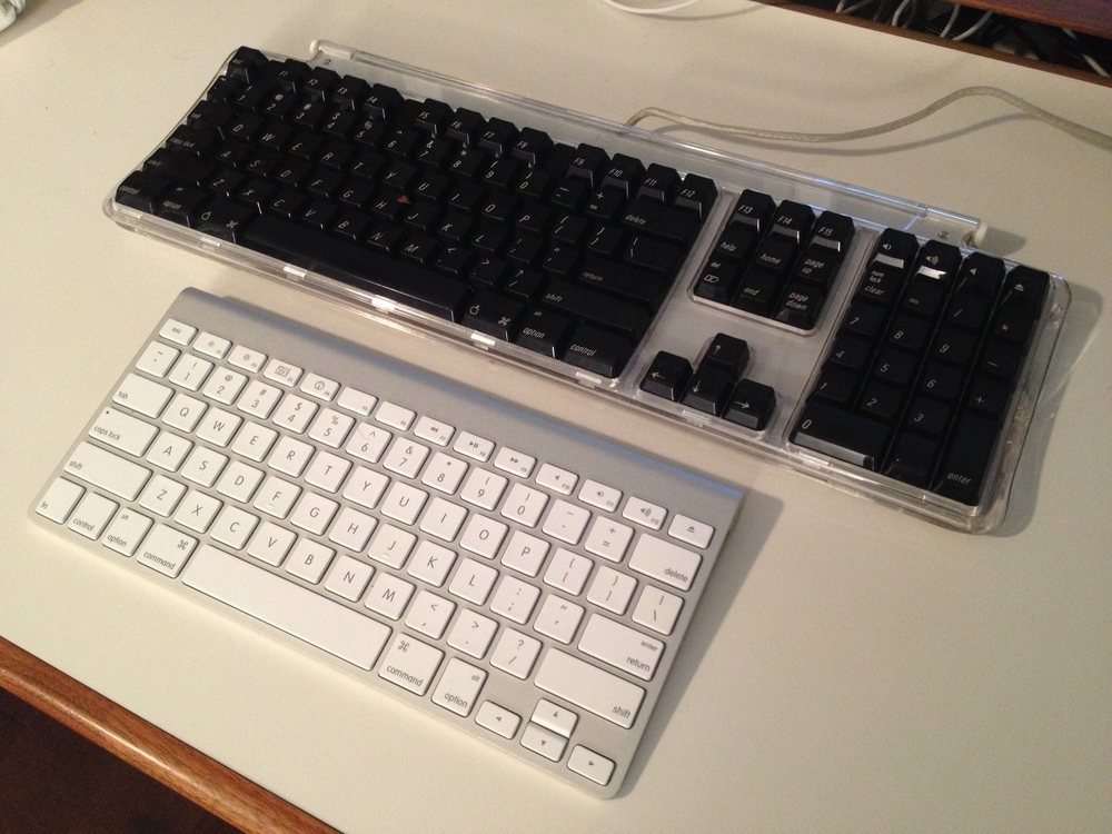 I am sure there is a Zoolander joke in here somewhere, but seriously, this keyboard is huge.