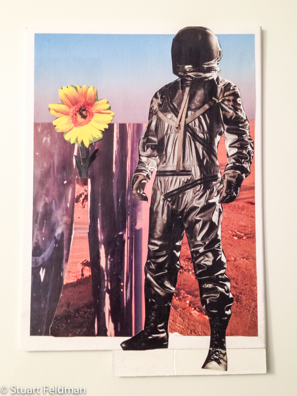 Spaceman and Flower. Collage. 2013.