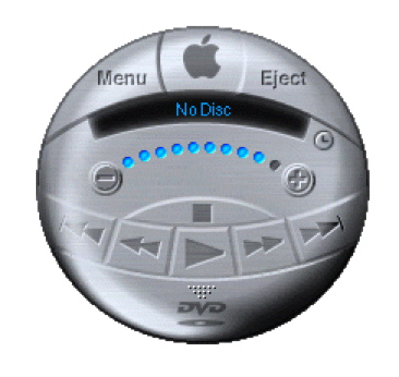Here is an example of inelegance in OS 9, the DVD Player. What were they thinking?