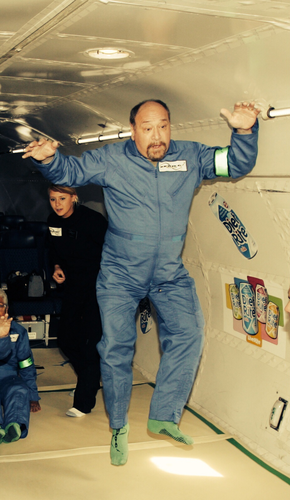 Mid-parabola. Zero-G flight. October 2004.