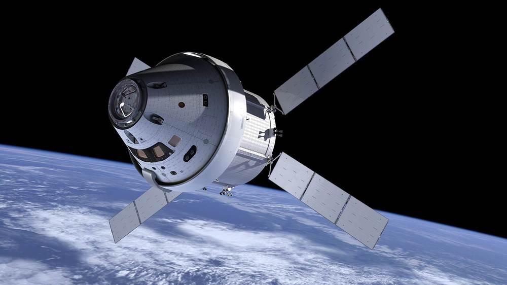 NASA Orion with ATV Service Module. Image Credit NASA