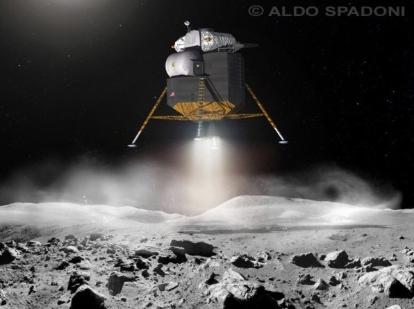 Conceptual Lunar Lander Design. Image credit: Aldo Spadoni. Used with permission.