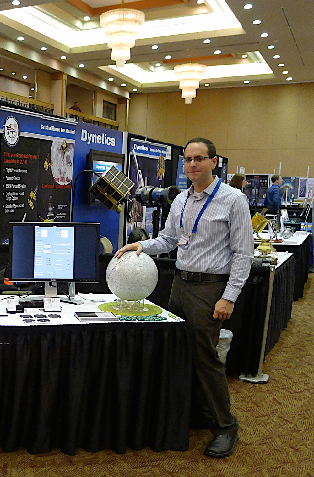 At ISDC 2011 in Huntsville, AL. Note the Bigelow Thruster on the Dynetics table in the background.