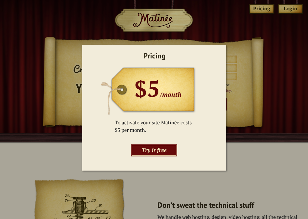 Matinee Home Page Pricing.png